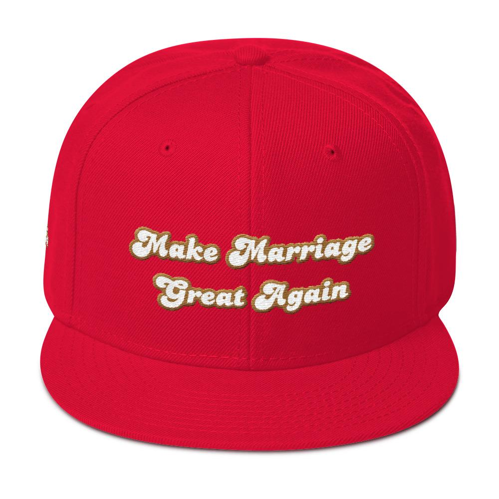 Make Marriage Great Again Red Snapback Hat