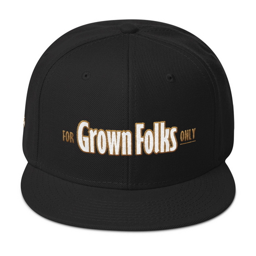 Official For Grown Folks Only Snapback Hat