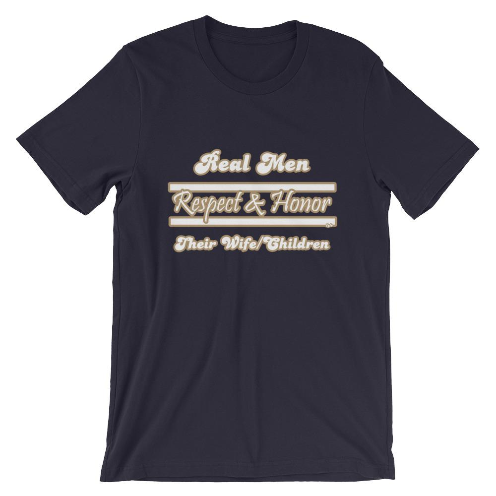 Real Men Respect & Honor Navy T-Shirt