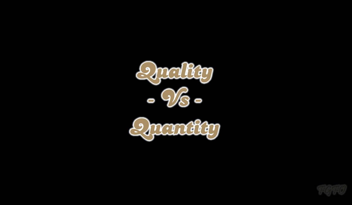 Quality Vs Quantity of Sex